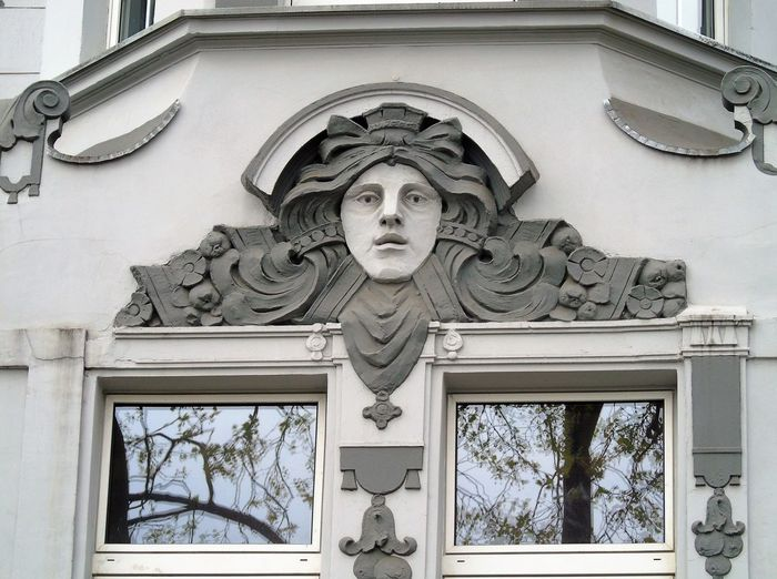 Low Angle View Of Sculpture On Building