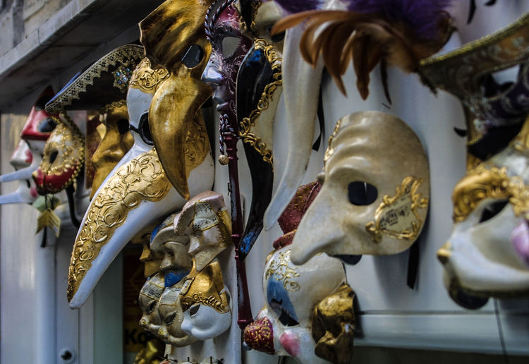 Close-up of venise masques