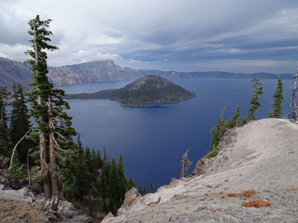Crater Lake Crater Lake National Park EyeEm Best Shots EyeEm Nature Lover EyeEmNewHere National Park Oregon USA Beauty In Nature Cloud - Sky Day Landscape Mountain Mountain Range Nationalpark Nature No People Outdoors Physical Geography Scenics Sky Tranquil Scene Tranquility Tree Water