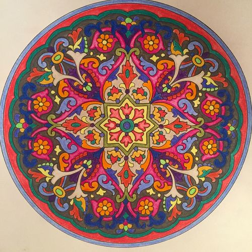 Hello World ❤ Peaceful Happiness Gratitude Relaxing Coloreando Mandala Mandala Art Enjoying Life Draw Drawing