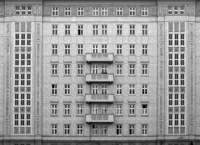 Building Exterior Architecture Window Built Structure Building City Berlin Apartment East Berlin Blackandwhite