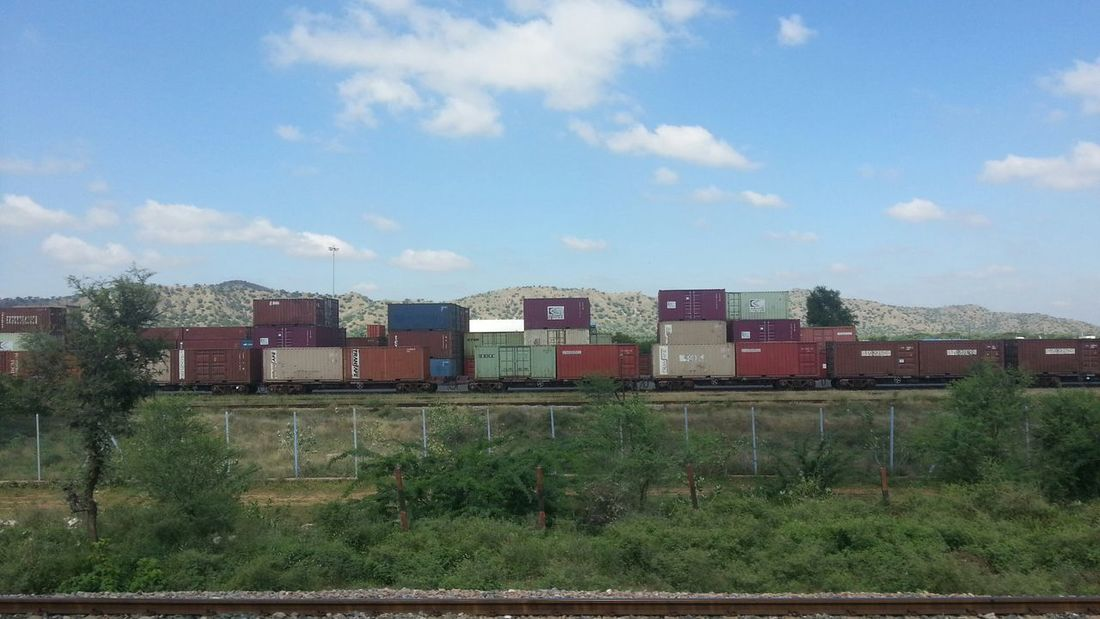 Goods Train Carrying Containers : Railroad Check This Out Hello World Taking Photos