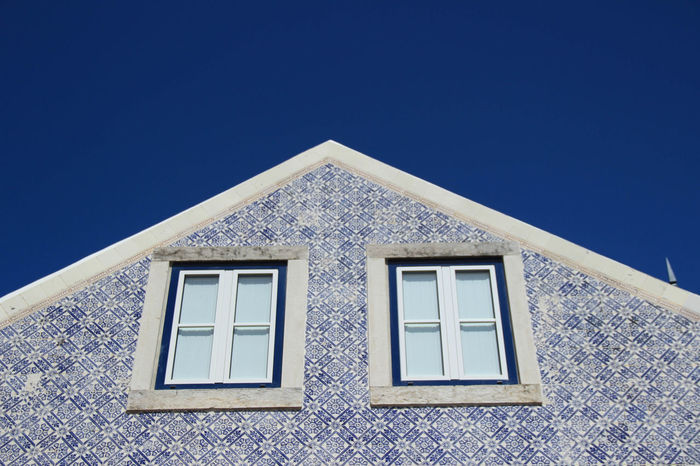 Traditional portuguese house with the facade covered by tiles Architecture Blue Sky Destination Europe European  Fashion Façade Holyday Home House Outdoors Portugal Portuguese Portuguese Architecture Portuguese Tiles  Street Summer Tiles Tiles Textures Traditional Travel Windows