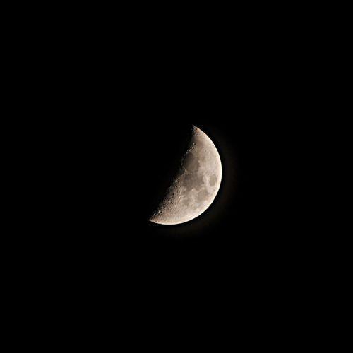 Half Moon Moon Nikon D300s