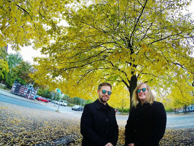 Two People Tree Person Standing Adult Blond Hair Young Adult Portrait Outdoors Sunglasses People Togetherness Horizontal Couple Day Smiling Men Only Men Axelborisab AxelandBoris Axel And Boris Axel & Boris
