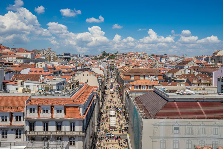 Lisbon City in Portugal Lisbon Lisbon - Portugal Portugal Built Structure Building Exterior Architecture Building Residential District City Sky Cloud - Sky Roof Town Cityscape Crowd House Nature Community Day Crowded Outdoors TOWNSCAPE Roof Tile Row House