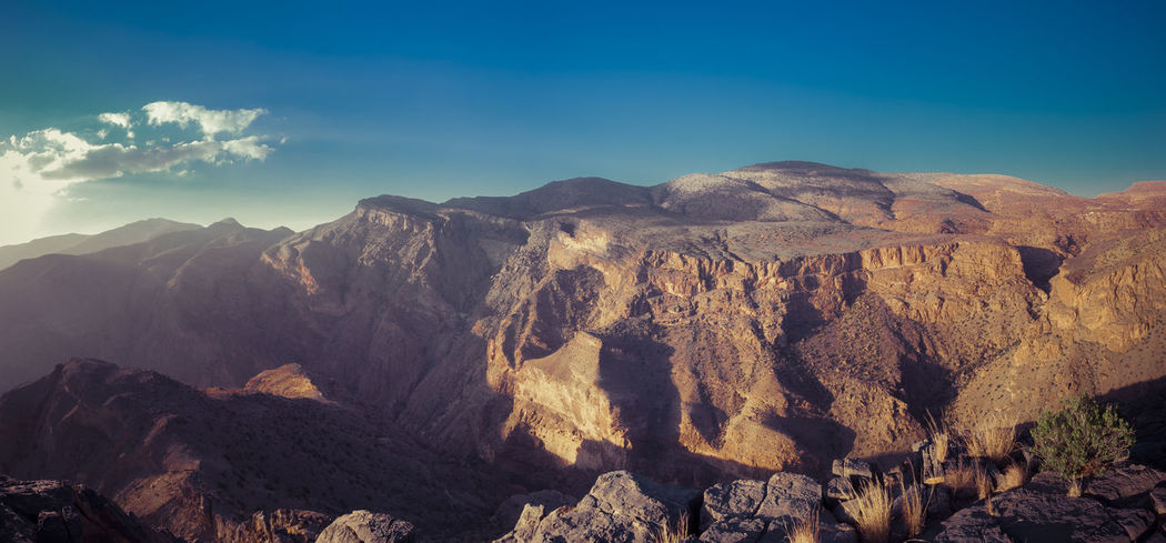 Al Hajar Mountains Dead Tree Green Oman Travel Tree Adventure Blue Blue Sky Hikers Paradise Hikingadventures Jebel Shams Mountain Range Mountains And Sky Oman_photo Scenery Single Tree Sunset Travel Destinations