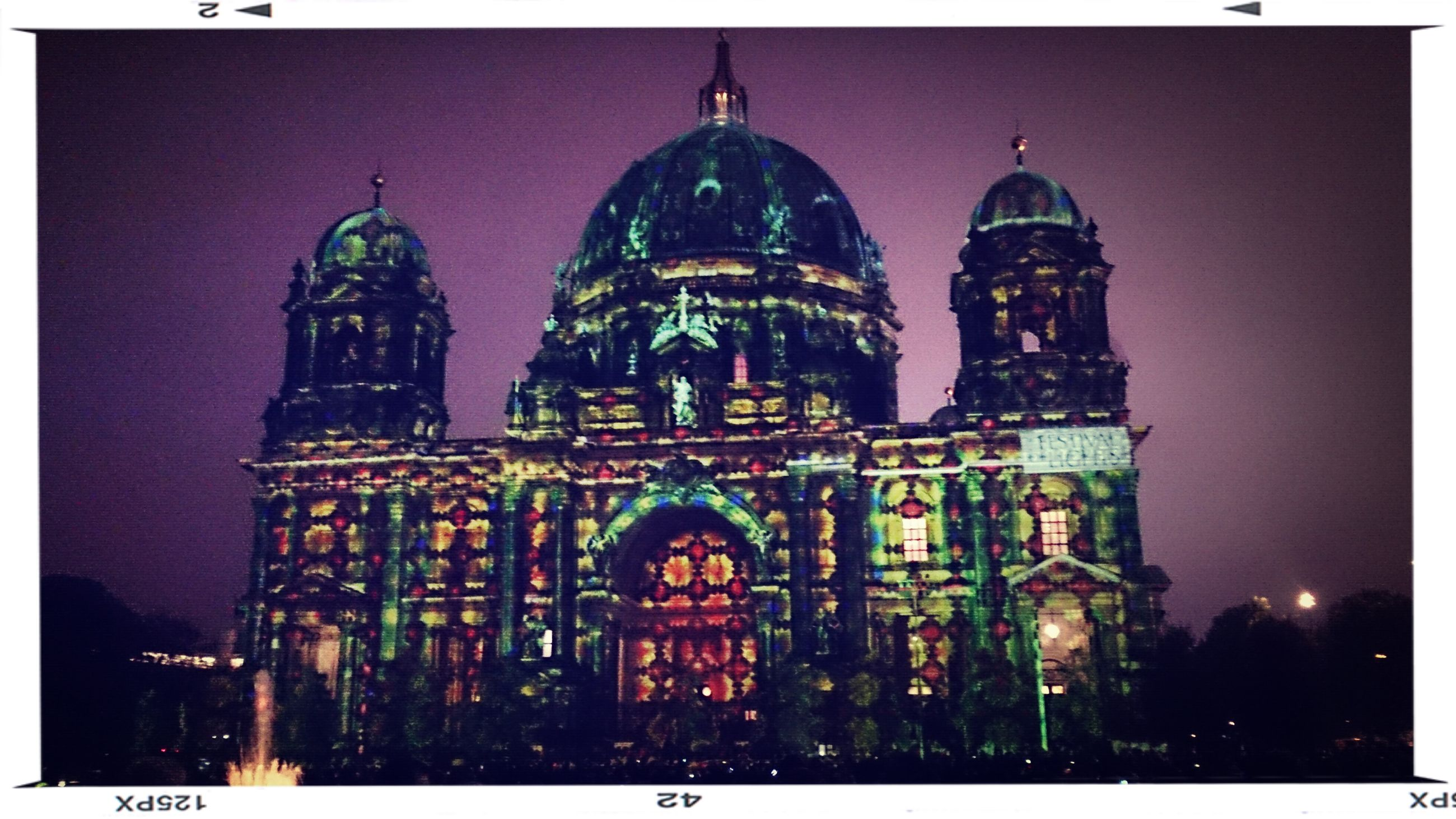 building exterior, architecture, built structure, place of worship, religion, transfer print, spirituality, illuminated, church, night, cathedral, famous place, travel destinations, auto post production filter, dome, city, international landmark, tourism