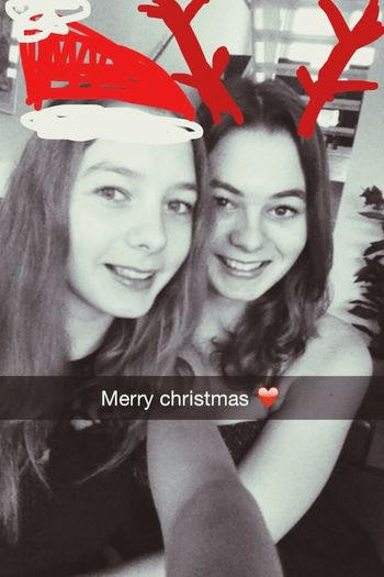 Merry Christmas Me And My Sister Happy Love <3
