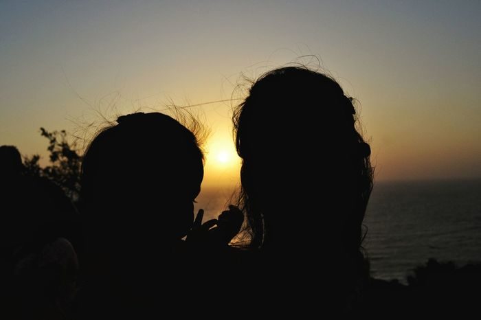 Silhouette Sunset Silhouette Two People Togetherness Sun Adults Only Adult Silhouette Goadiaries Goatrip Scenics Lights And Shadows EyeEmNewHere Friendship People Sky Close-up Outdoors Day Nature Beauty