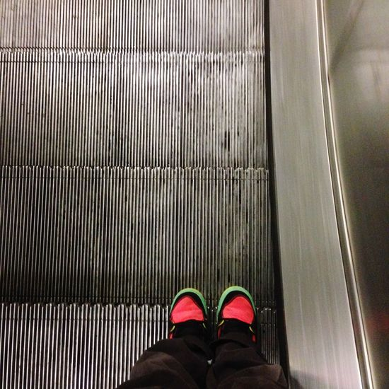 Notes From The Underground Undergroundphotography Feetselfie Escalator Stand On The Right Feet Steps Grey
