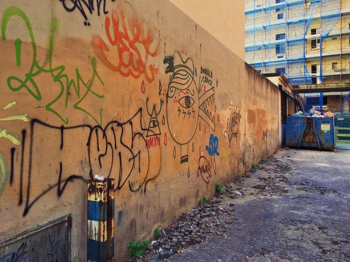 Urban corner. Urban Urban Landscape No People Building Exterior Graffiti Day Wall - Building Feature Building