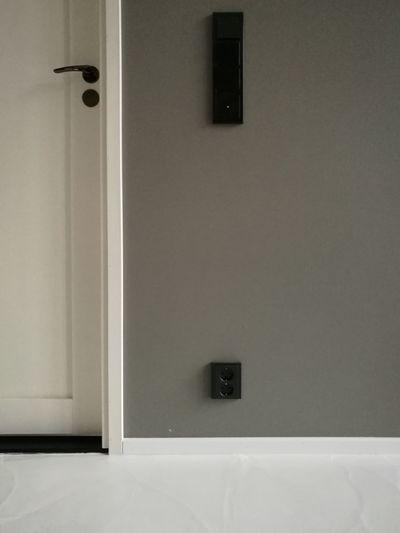 No People Indoors  Day Architecture Door Doorknob Gray Home Wall Light Switch