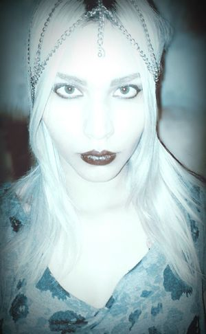 Hi! That's Me Hello World Model Blondehair Me Beuty Witch Blond Girl Rock And Roll Darkgirl Psichodelic Witchcraft  Stonerrock