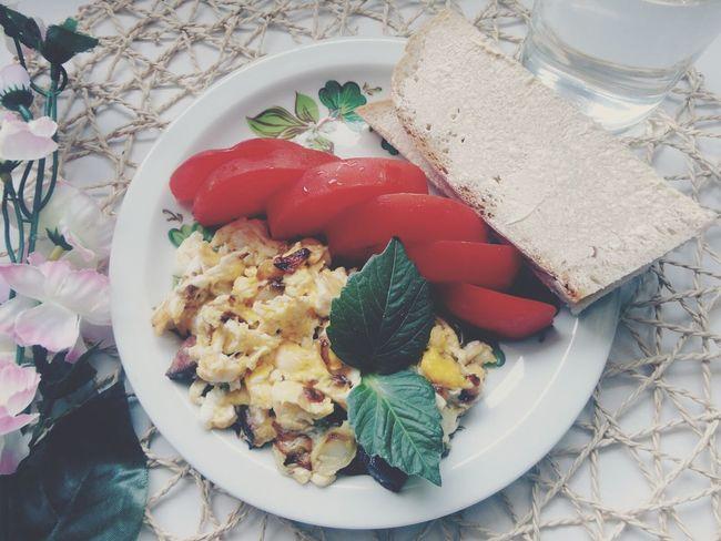 Jajecznica śniadanie Pycha