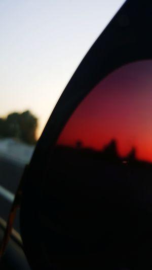 Sky Sunset Red