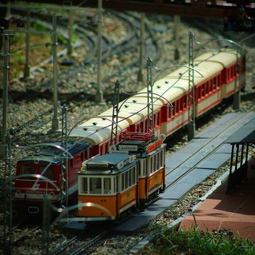 Train Station Train Station Old Minigame Children Orange Red Valtrebbia