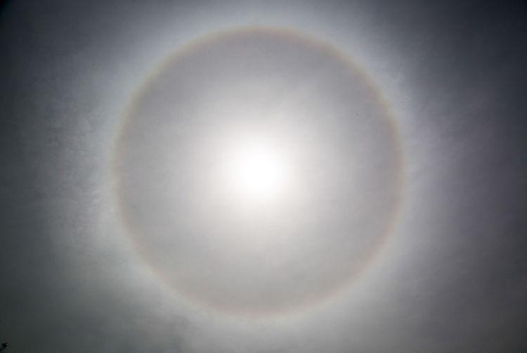 Close-up of rainbow in sunlight