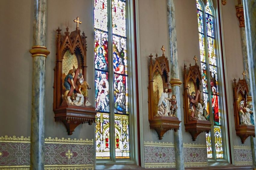 St. John The Baptist Cathedral Savannah Savannah Cathedral Church Stained Glass Architecture Architecture_collection Architectural Detail