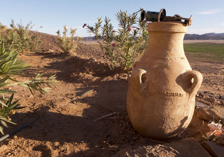 Sunlight Plant Nature Land Day No People Field Shadow Landscape Outdoors Art And Craft Close-up Dirt Sunny Craft Sand Environment Amphora Dekoration View Morocco Crockery Pitcher Earthenware Sahara