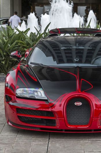 Bugatti Veyron Black Red Power Hypercar Supercar W16 Vitesse