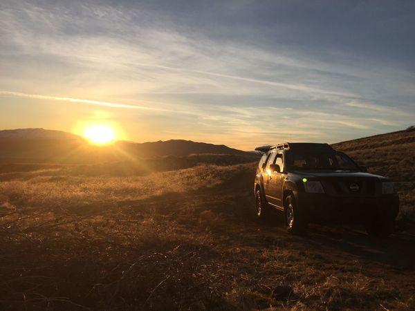 Nature Sunset Mode Of Transport Xterra Nissan Outdoors Landscape Land Vehicle No People