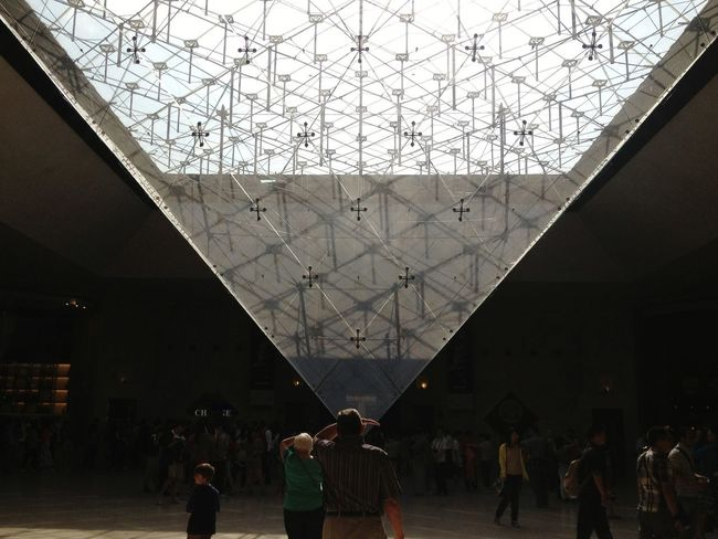 Louvre museum , Paris Silhouette Indoors  Large Group Of People People Adult Adults Only Day Indoors  Architecture Built Structure
