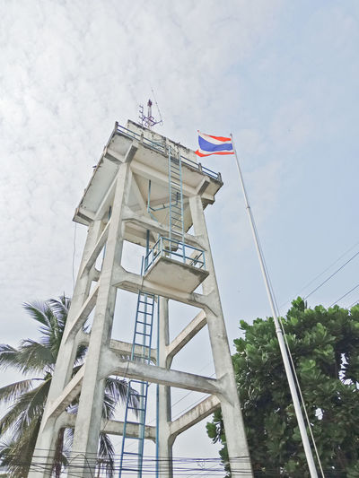 Thai Thailand Architecture Building Exterior Built Structure Countryside Day Flag Low Angle View No People Outdoors Sky Tower Water Watertank Watertower