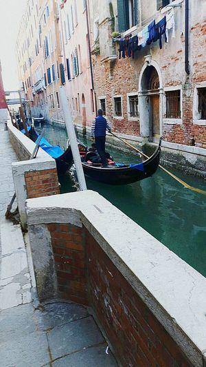 Venice, Italy Gondola - Traditional Boat Canal Holiday Lifestyles Building Exterior Outdoors One Man Only Floating On Water Travel Destinations Washingontheline Washing Line Morning Sunshine Washing Laundry Italy 🇮🇹 Venezia Love♡ EyeEmNewHere The City Light