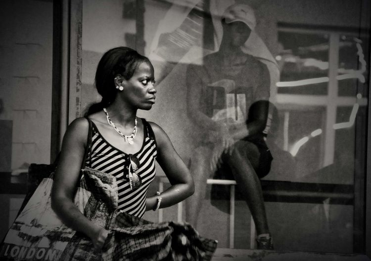 Waiting of the end of the rain Black And White Caribbean Cuba, Cuban Women People Santiago De Cuba, Street Photography Street,