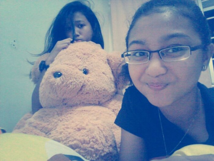 with her at my crib ;))