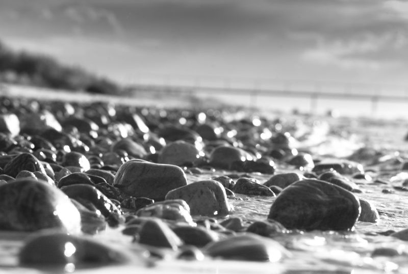 Wet Stones Beach Beauty In Nature Close-up Day Horizon Over Water Nature No People Outdoors Pebble Pebble Beach Sea Sky Water