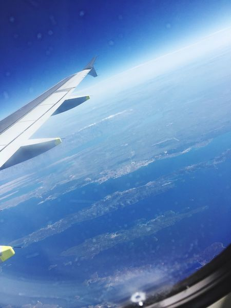 Around the World 💻🙏☀️🏖 Lifeisbeautiful Aerial View Airplane Airplane Wing Transportation Journey Blue Sky Nature Mode Of Transport Air Vehicle Aircraft Wing No People Mid-air Day Flying Beauty In Nature Travel Window Ocean Scenics