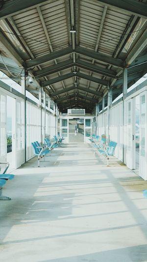 Empty corridor in building