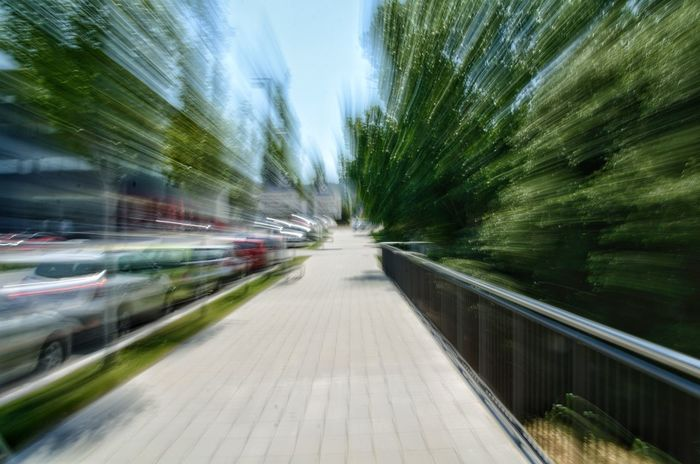 Speed Blurred Motion Motion No People The Way Forward Transportation Day Road Outdoors Nature Architecture Abstract Abstract Photography Zoom Burst Zoom Blur