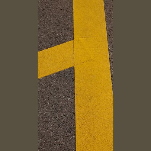 No People Road Sign Transportation Street City Symbol Day Road Marking Communication Marking High Angle View Road Sign Auto Post Production Filter Outdoors Geometric Shape Shape Yellow Red Asphalt Pattern Direction Architecture Dividing Line Textured  Art And Craft