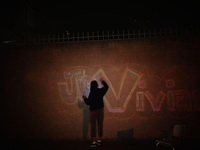 Chalk Graffiti Night Lifestyles