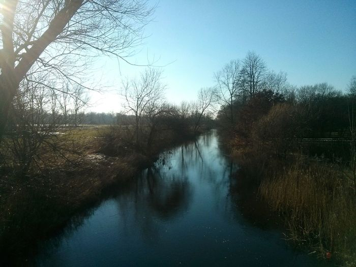 The River Wümme (I think), with the Light Gently Kissing it. · Rotenburg An Der Wümme Rotenburg Landscape Water Winter Sun Cold Day
