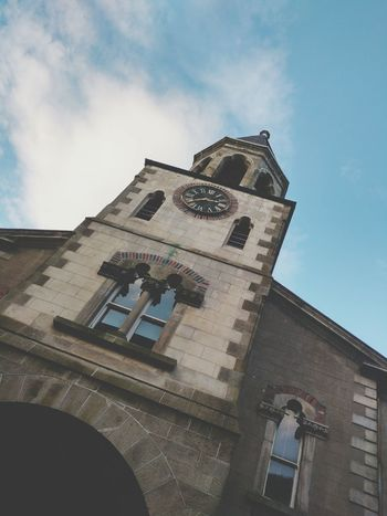 Look UP Building Exterior Low Angle View Architecture Sky Built Structure Day Religion History Outdoors Cloud - Sky No People Clock Tower Clock Face