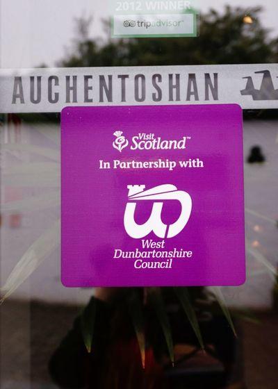 Visit Scotland ;) Auchentoshan Distillery Tour Reflections Scotland Sign Window Window Reflections Window Stickers