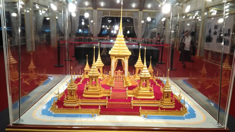model royal funeral pyre  Indoors  Illuminated Gold Colored Gold Yellow Day Architecture Religion No People