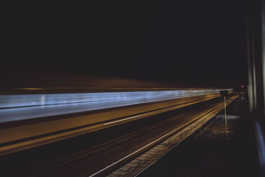 Moving train Hanging Out Moving Train 8secs Speed Showing Imperfection Speed Of Light Movement Photography Nightphotography Moving Train Panoramas Train Rail Night Lights Night Photography Stranger Things Fast Moving Increase High Speed High Speed Photography