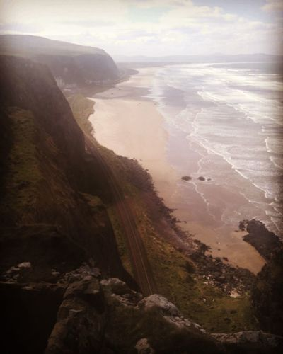 Hazy Hillside. Nature Awe Landscape Aerial View Coastline Sand Scenics Water Sea Outdoors Beach Beauty In Nature Day No People Sky Natural Parkland Irelandseye Ireland🍀 Travel Photography Ocean Waves Nature