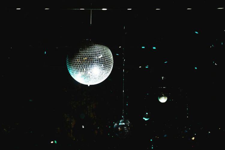 Disco Disco Ball Night Arts Culture And Entertainment Illuminated Nightlife Celebration Nightclub Shining Shining Light Lighting Equipment Hanging