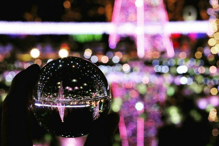 Illuminated Night Celebration Garden Glassball Glass Reflection Close-up Tochigi.japan Japanese Girl ファインダー越しの私の世界 写真撮ってる人と繋がりたい カメラ好きな人と繋がりたい カメラ女子 Light Effect Lightup Event