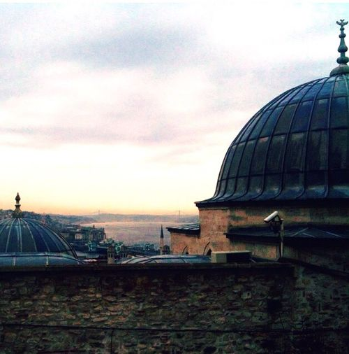 :: Sulaymaniye Mosque :: Boğaz Kubbe Bakış