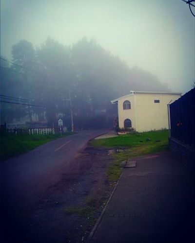 Tarde entre nubes. Fog Built Structure Building Exterior Architecture No People Outdoors Road first eyeem photo