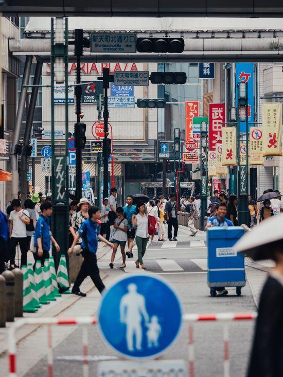福岡 EyeEm Best Shots VSCO Vscocam Olympus Photography Travel Japan Text Large Group Of People Real People City Built Structure Architecture Building Exterior EyeEmNewHere Editor's Picks