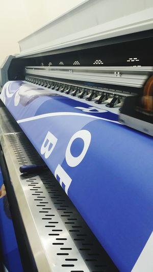 Close-up of printing machine