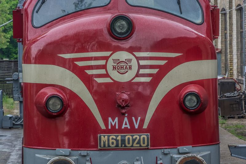 Text Red Day Communication Outdoors No People Close-up Fire Engine NOHAB Train Vasuttortenetipark Hungary Technology